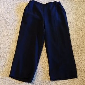 LRL vintage, wool, navy, cropped sailor pants